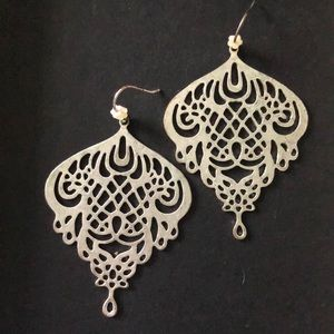 Silver lucky brand earrings